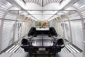 Cerimónia de abertura da linha de montagem do novo Porsche Macan em Leipzig