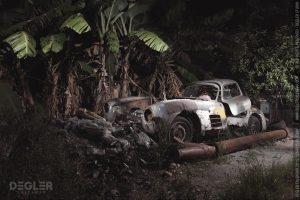 Mercedes-Benz Gullwing encontrado debaixo de bananeira (com Vídeo)