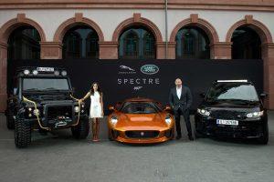 Revelação mundial dos veículos Jaguar Land Rover para o James Bond (com Vídeo)