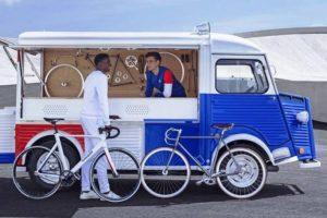 E se a carrinha da Citroën fosse uma oficina de bicicletas?