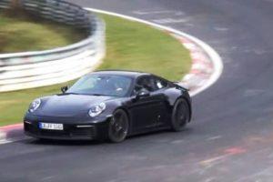 O novo Porsche 911 já faz testes em Nurburgring