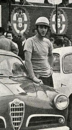 João Andrade Vilar conduziu um dos novos Giulietta Sprint Veloce em Monsanto, 1957