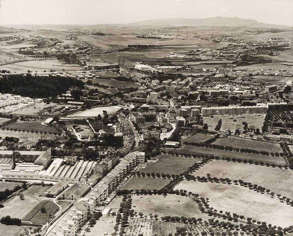 Vista aérea sobre Benfica