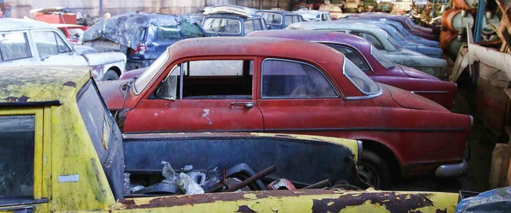 Colecção gigante de Volvos encontrada na Suécia