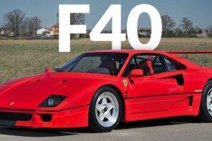 O Ferrari F40 nasceu há 30 anos