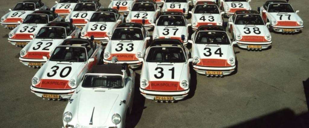 Países Baixos recebem frota histórica de automóveis de Polícia da Porsche