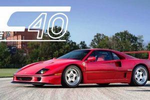 Este Ferrari F40 de 1991 é uma máquina de sonho