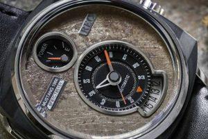 Peças de automóveis clássicos usadas em relógios