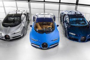 Os primeiros Chiron personalizados do Atelier Bugatti