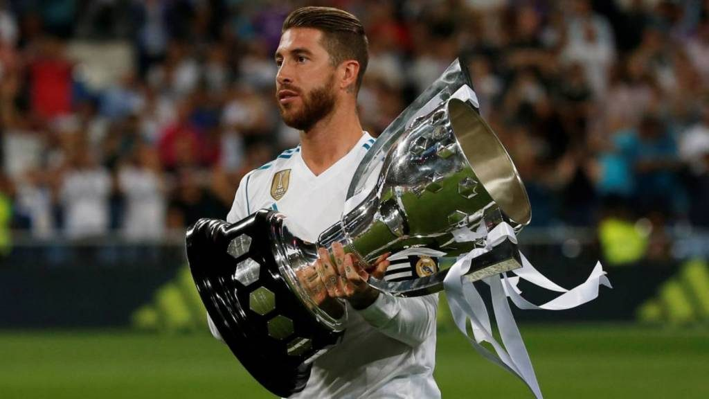 Sergio Ramos tem um palmarés invejável com a selecção espanhola e com o Real Madrid
