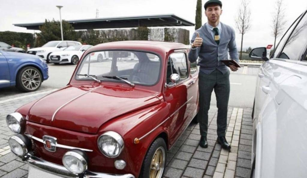 Sergio Ramos e o seu Seat 600