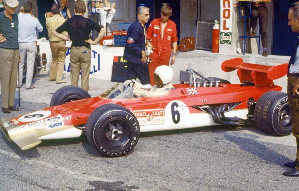 John Miles com o Lotus 63 de quatro rodas motrizes