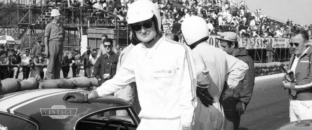 John Miles, no Circuito de Cascais, em 1966. Terminaria em segundo lugar.