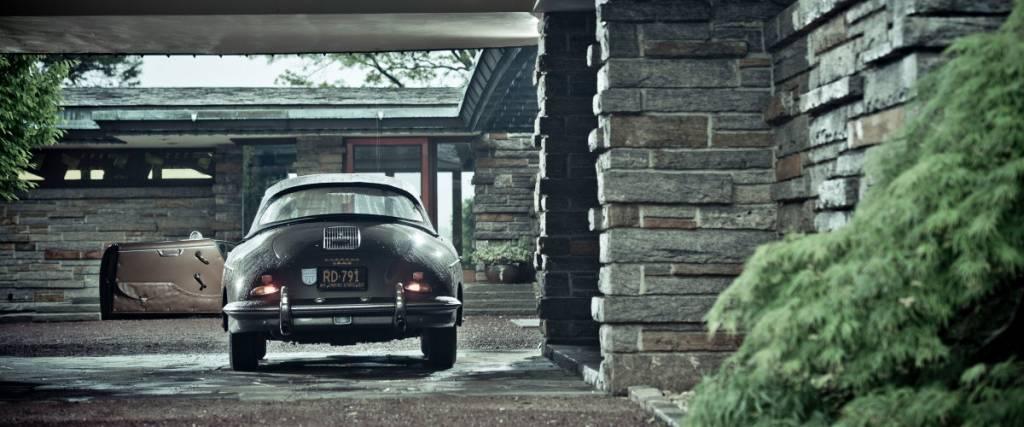 Nada combina melhor que um Porsche 356 e arquitectura de Frank Lloyd Wright