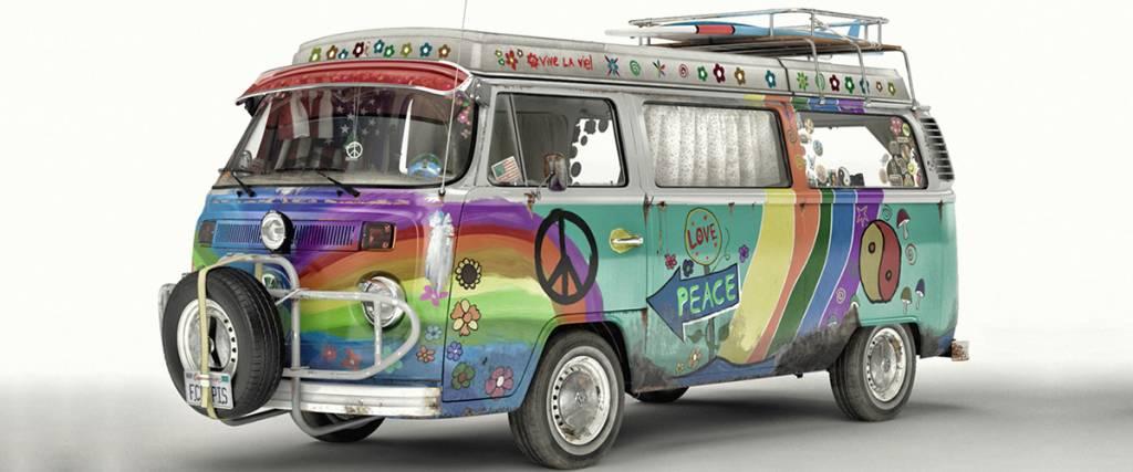 As maravilhosas carrinhas customizadas dos anos 70