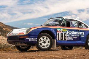 Porsche 959 que participou no Paris-Dakar em 1985 vai a leilão
