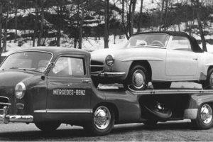 Transportadores de automóveis que seria impensável utilizar hoje em dia