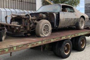 """39 anos depois o Pontiac que McQueen utilizou em """"The Hunter"""" foi encontrado"""