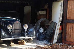 Trio de Bugattis encontrados em celeiro na Bélgica vai a leilão na Rétromobile
