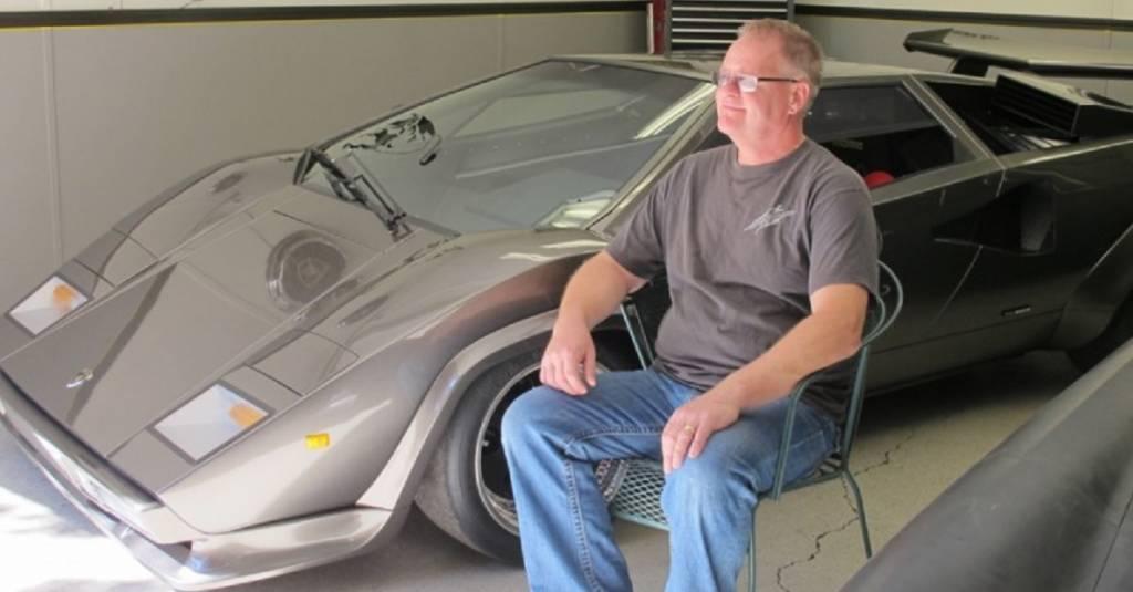 Lamborghini Countach construído em casa durante 17 anos