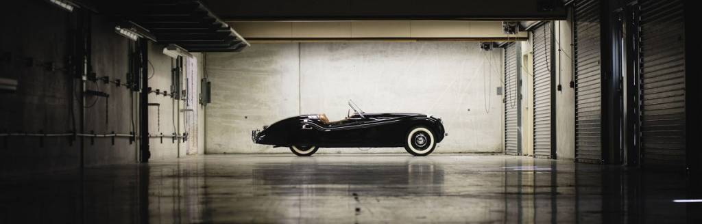 Jaguar XK120 de Clark Gable descoberto debaixo do circuito de Brickyard