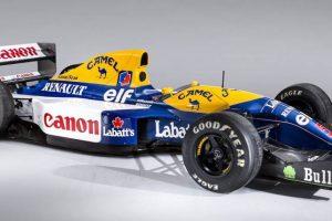 """Famoso """"Red Five""""com que Nigel Mansell correu em 1992 vai a leilão"""