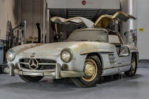 Descoberto o Mercedes-Benz 300SL Gullwing com o chassis nº43