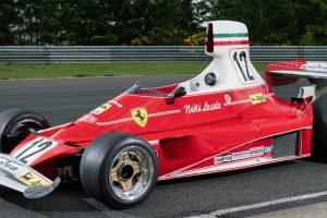 Ferrari 312T com que Lauda foi campeão do mundo em 1975 vai a leilão