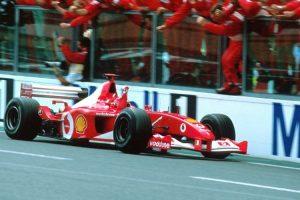 Ferrari F2002 de Schumacher poderá tornar-se o Fórmula 1 mais caro de sempre