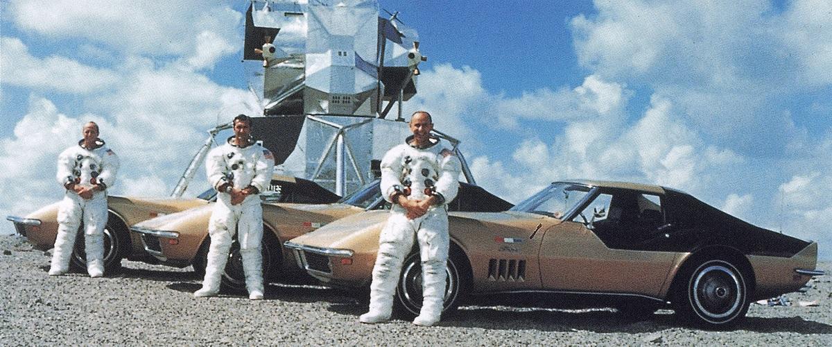 Os automóveis dos astronautas da missão Apollo 11