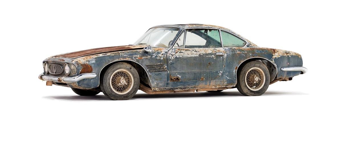 Maserati 5000 GT Coupe descoberto no deserto vai a leilão
