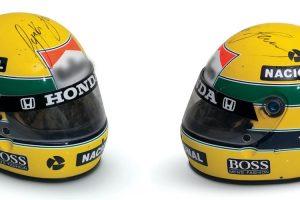 Capacete que Ayrton Senna utilizou em 1988 foi vendido por mais de 90 mil euros