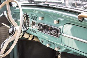 A beleza interior dos veículos clássicos