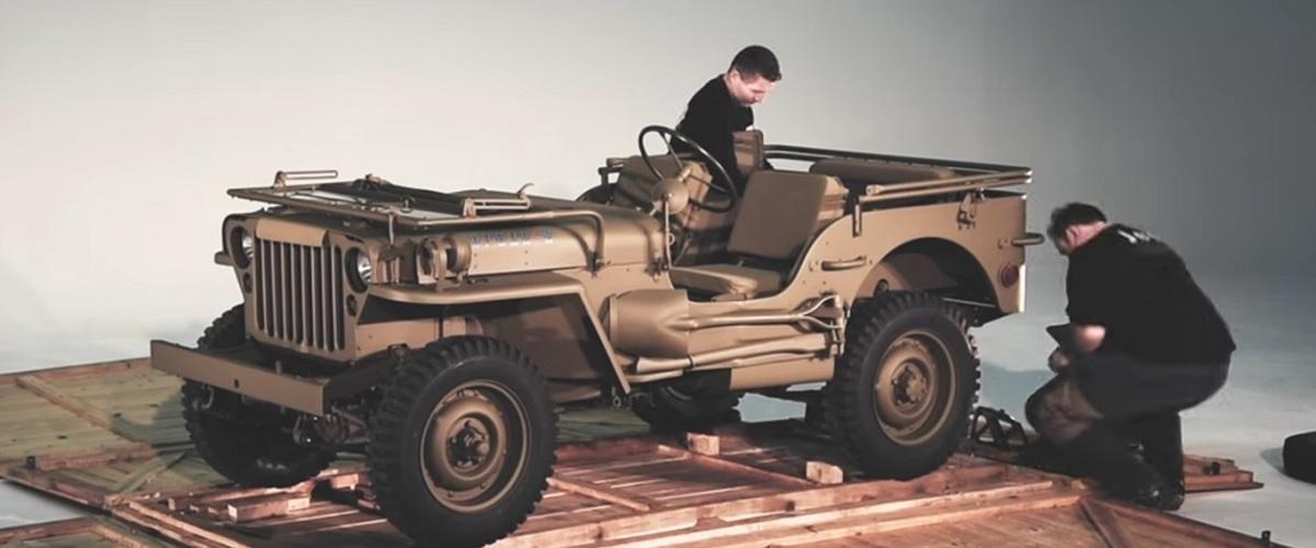 Como os Jeep eram transportados da fábrica até ao seu destino na II Guerra Mundial