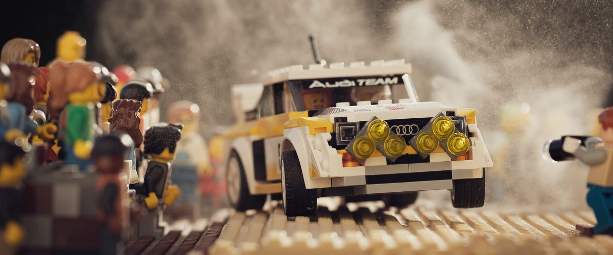 Entusiasta recria fotografias icónicas do Audi Quattro de Grupo B em Lego