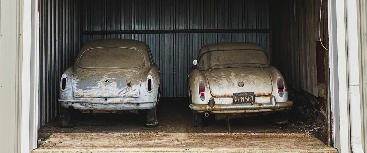 Cinco Alfa Romeo esquecidos em quinta vão a leilão
