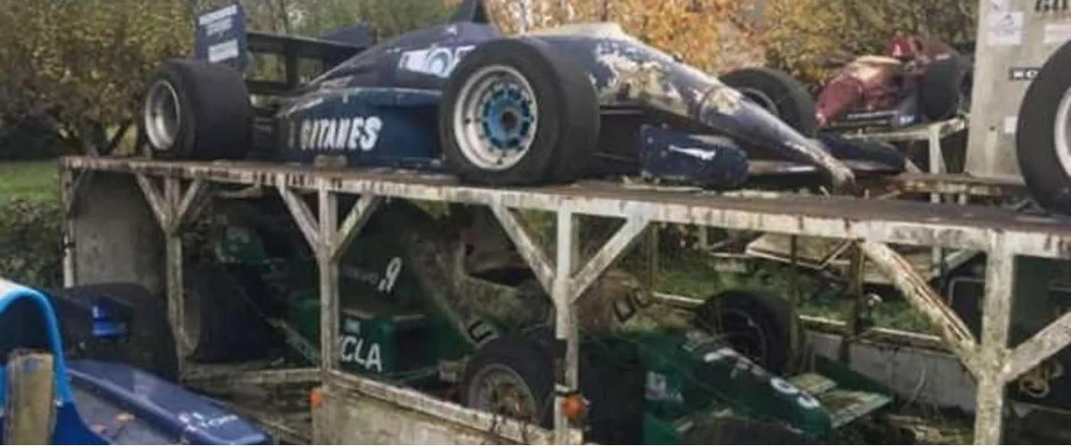 Os Fórmula 1 deixados ao abandono em França