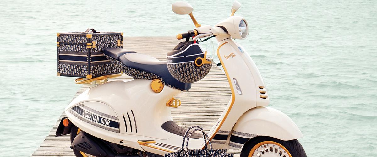 Dior e Vespa lançam edição limitada da Vespa 946