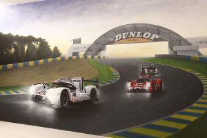 João Saldanha pinta mural dedicado à vitória da Porsche nas 24 Horas de Le Mans de 2015