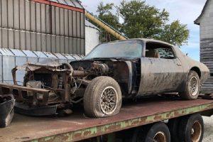 Pontiac Firebird Trans Am utilizado no último filme de Steve McQueen à venda