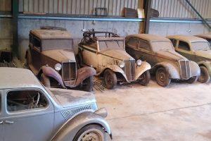 """Colecção de Lancia pré-Guerra em estado """"Barn Find"""" está à venda"""