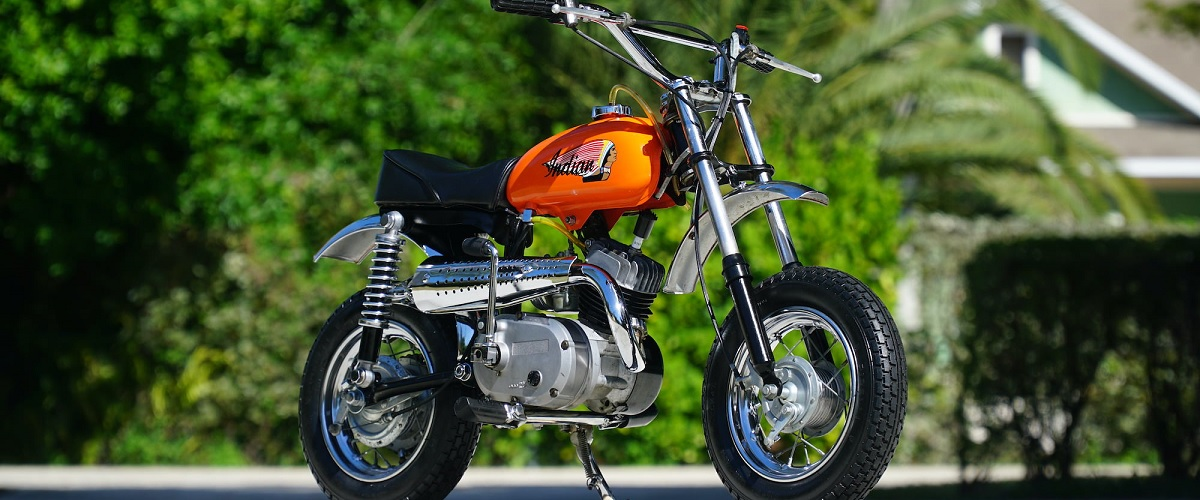Indian MM5A, a mais pequena mota da marca americana vai a leilão