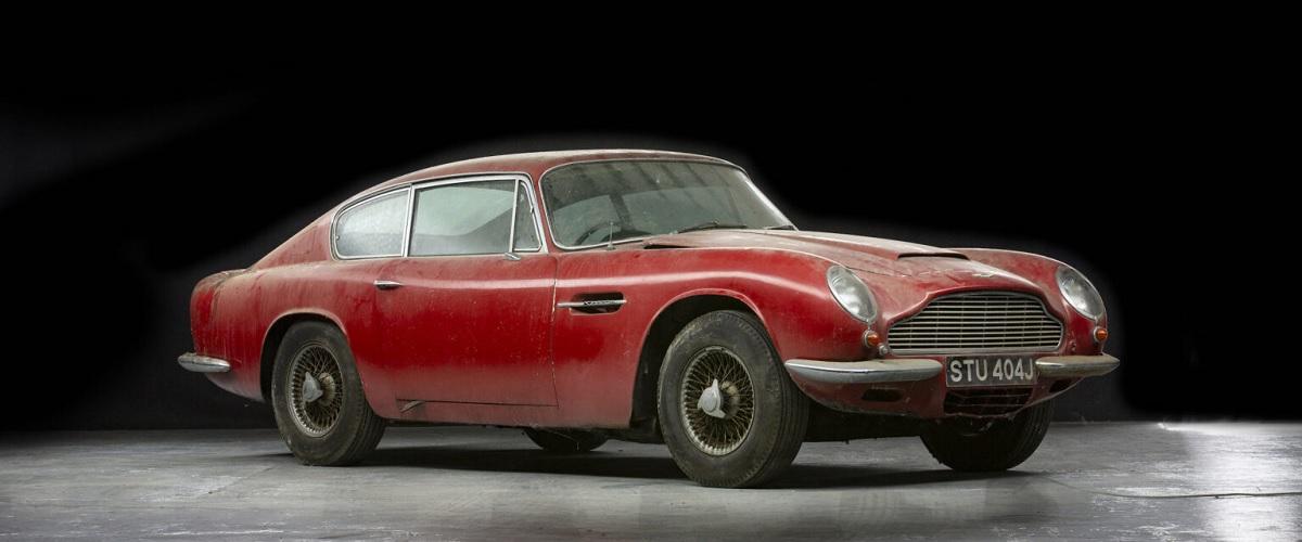 Aston Martin DB6 Vantage que permaneceu durante décadas numa garagem vai a leilão