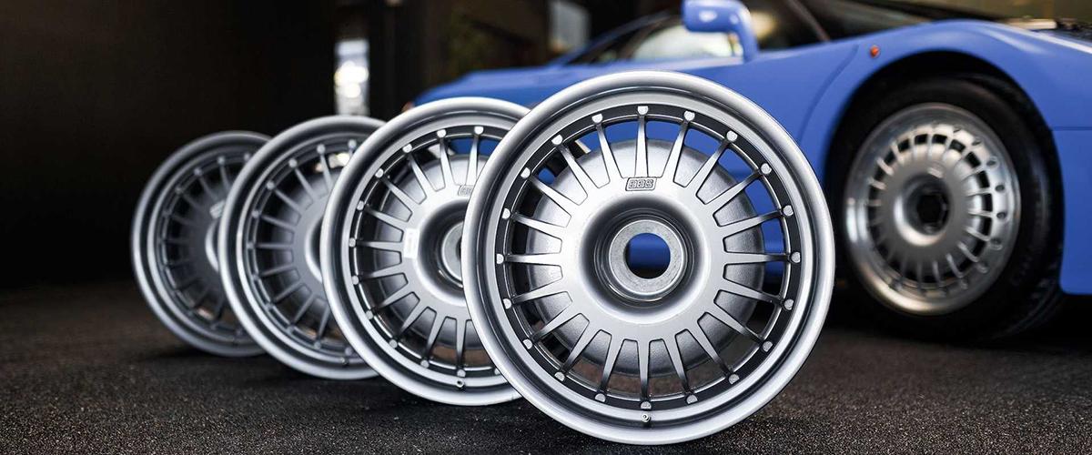 Conjunto de jantes BBS que pertencem a um Bugatti EB110 vai a leilão