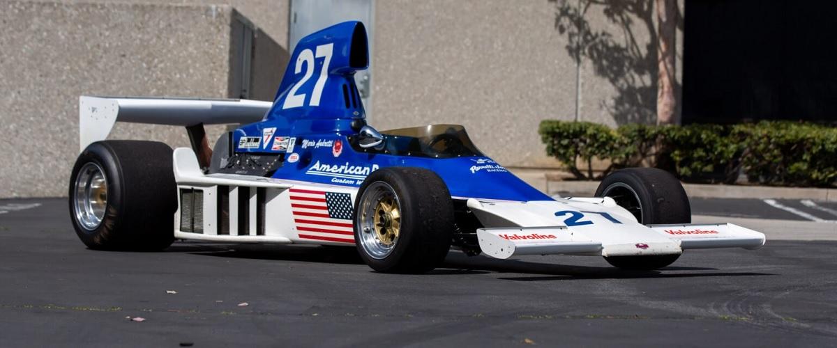 Parnelli VPJ4 conduzido por Mario Andretti na Fórmula 1 vai a leilão