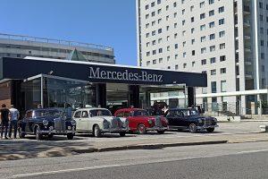 """C. Santos da Boavista visitada por grupo de Mercedes-Benz """"Ponton"""""""